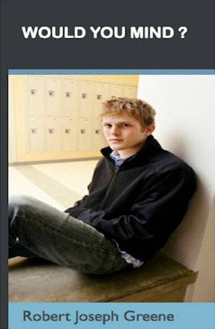 A white boy sits on a bench in front of some lockers