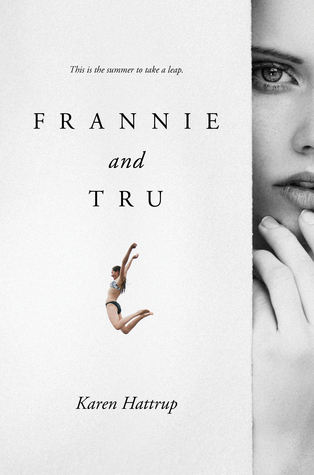 Most of the cover is white with a small image of a girl in a bikini jumping.  The right side of the cover has a sliver of a girl's face with an eye and half her lips exposed.