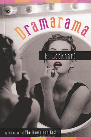 In black and white, a girl looks into a mirror applying lipstick