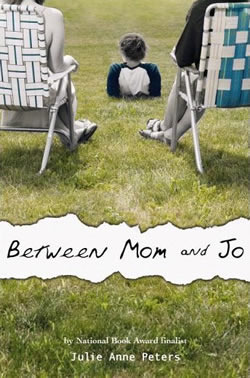 Two people sit in lawn chairs and a boy sits between them. The people are black and white while the grass is green