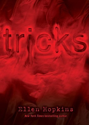 Tricks embossed on a red smoky background