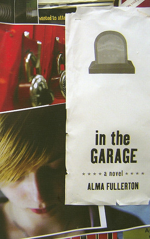 A series of pictures showing red lockers and a teen with blond hair beneath a piece of paper that has a gravestone on it