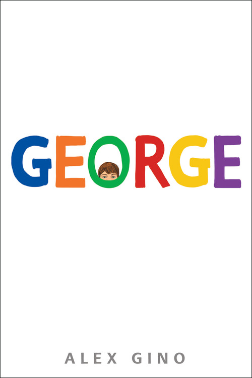 The cover is white with the title in rainbow letters.  In the O is the upper half of a white face with brown short hair.