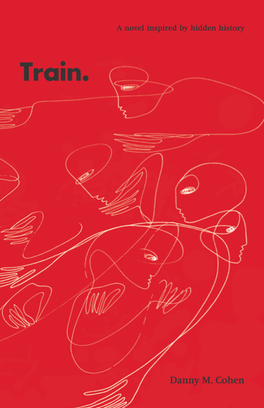 Red cover with white, abstract line drawings of people