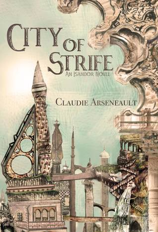 Cover depicts an amazingly intricate, steam punk style city-scape done in a collage style.