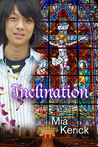 A South Korean boy with chin length hair is on the left side of the cover.  The rest of the cover is taken up by a giant stained glass window of Jesus on the cross.