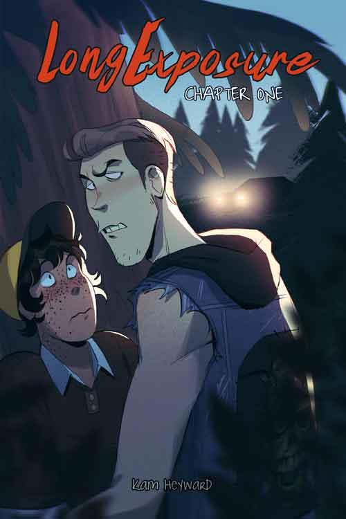 a tall white boy glares menacingly over a smaller person wearing a baseball cap