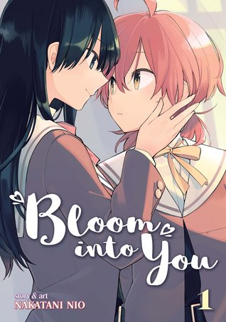 Book cover showing two characters about to kiss.