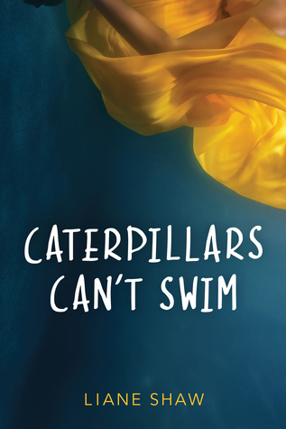 Book cover showing an arm with yellow swirling fabric over water.
