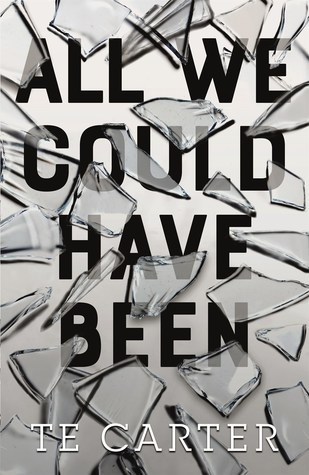 Book cover showing broken glass.