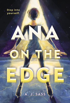Book cover showing a girl in a cone of light poised on an ice rink.
