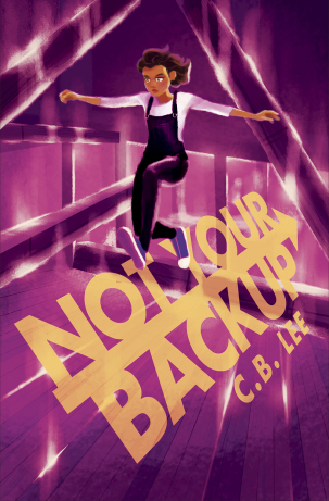 Book cover showing a girl jumping.