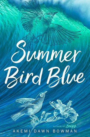 Book cover showing birds against blue swirls.