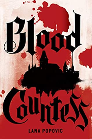 Book cover showing blood splotches.
