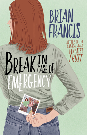 Book cover showing a girl holding a photo behind her back.