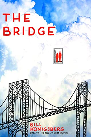 Book cover showing a bridge, and two people in a doorway.