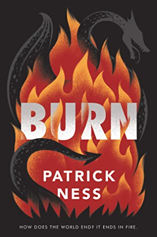 Book cover showing a dragon in flames.