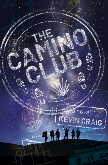 Book cover showing six hikers under the night sky.