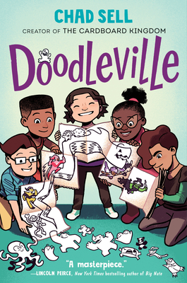 Book cover showing five people drawing.