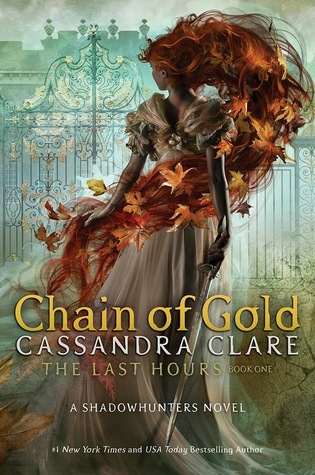 Book cover showing a woman in a white dress with red hair flowing with leaves.