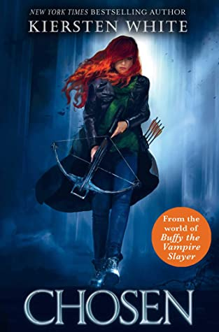 Book cover showing a red-haired woman with crossbow and arrows.