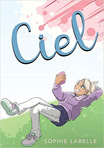 Book cover showing a person lying on the ground taking a selfie.