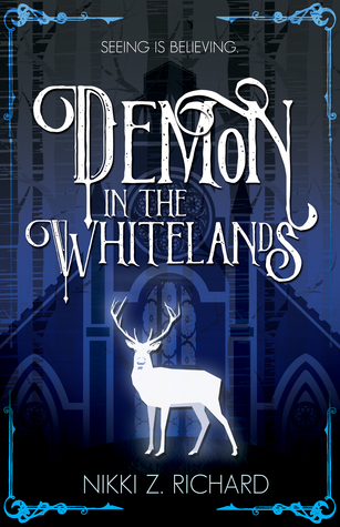 Book cover showing a silhouette of a deer, in front of a grand building.