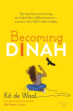 Book cover showing a girl shaving her hair with a bird soaring nearby.