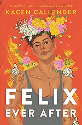 Book cover showing a Black boy with a head covering made of flowers.