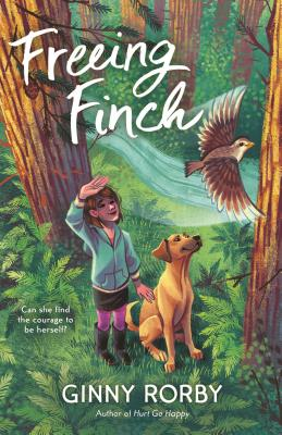 Book cover showing a girl and a dog in the woods.