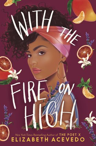 Book cover showing a Black girl and floating fruit and flowers.