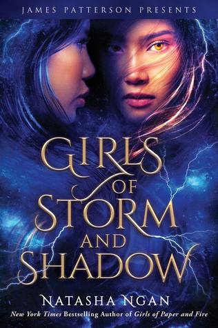 Book cover showing two girls and a storm.