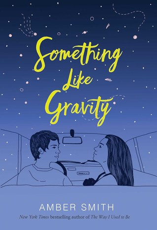 Book cover showing a couple in a car under a night sky.