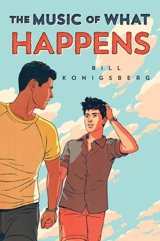 Book cover showing two guys holding hands.