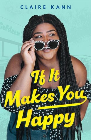 Book cover showing a Black girl smiling over her sunglasses.