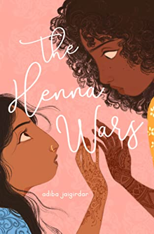 Book cover showing two girls with hennaed hands touching fingers.