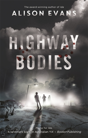 Book cover showing silhouettes of figures standing by cars and smoke.
