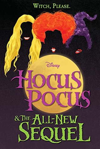 Book cover showing three colored wigs behind a moon.