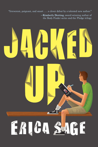 Book cover showing guy writing in notebook on a bench.