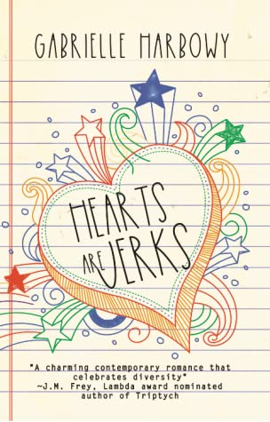Book cover showing doodles of a heart on notebook paper.