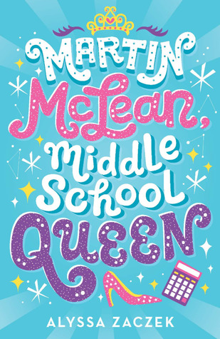 Book cover showing sparkles, a crown, calculator, and high heeled shoe.