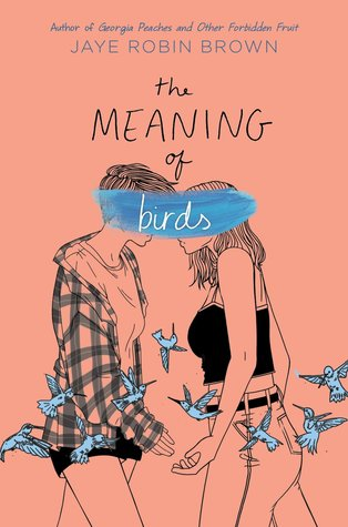 Book cover showing a couple about to kiss, surrounded by birds.