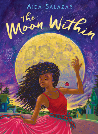 Book cover showing Black girl dancing in front of a huge moon.