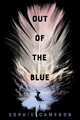 Book cover showing white feather.