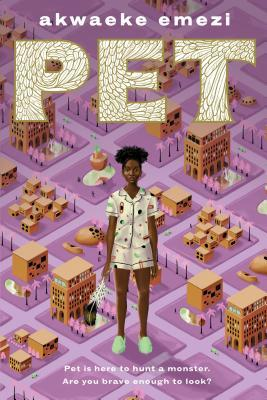 Book cover showing a Black girl standing in a small scale replica of a town.