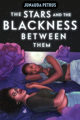 Book cover showing two Black girls lying down under a night sky.