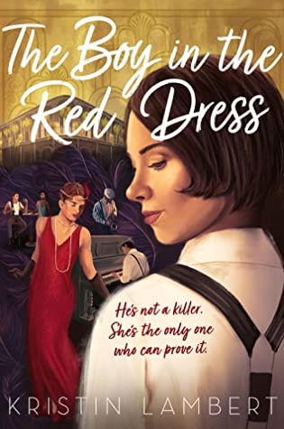 Book cover showing a person in a red dress performing with a band, and a woman wearing suspenders.