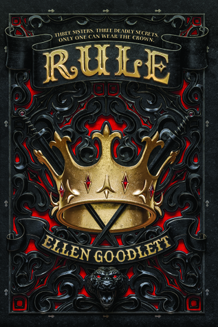 Book cover showing a gold crown over an ornate black iron design and crossed swords.