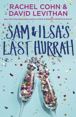 Book cover showing champagne flutes bursting with confetti.