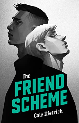Book cover showing two boys back to back, leaning on each other.